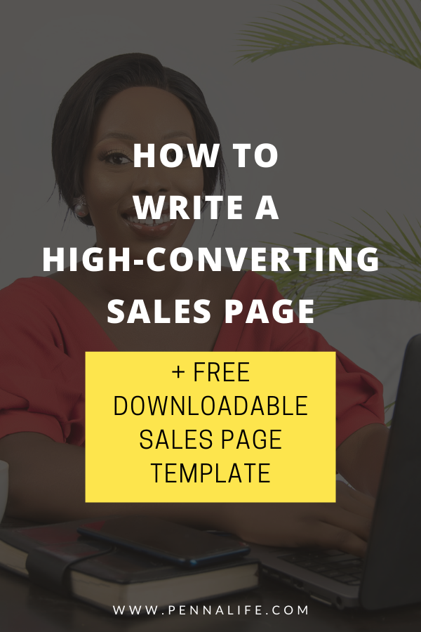 Google SERP's rich pin for Sales Page Template