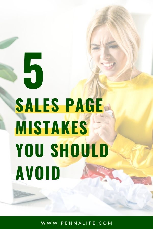 Google SERP's rich result for sales page mistakes